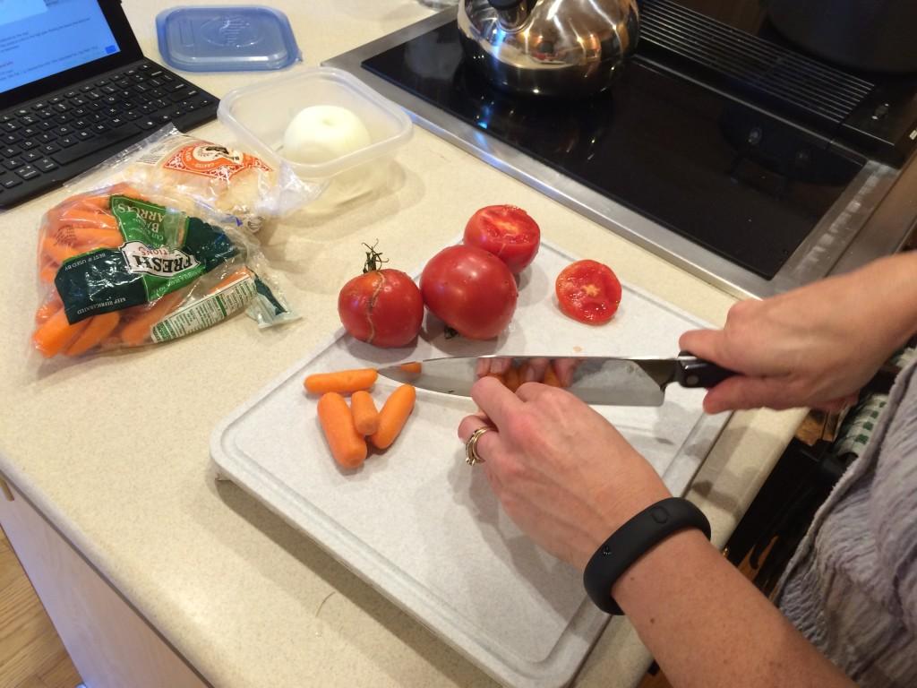Cutting Veggies